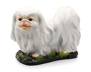 Pekinese 29 cm - Sculpture - White