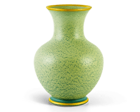Cloudy Sage Gold-lined Reactive Glazed Vase 22 cm