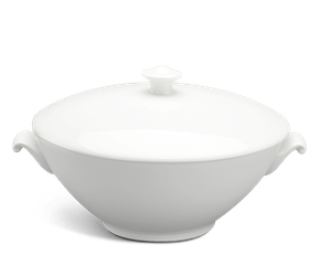 Soup tureen 1.8 L + lid - Daisy LY'S - White Ivory