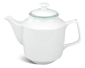 Tea pot 1.1 L + lid - Jasmine - Green line