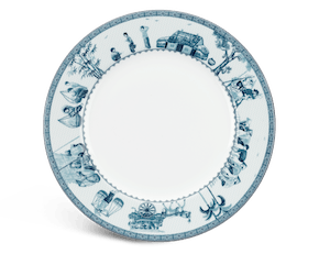 Round plate 25 cm - Jasmine - Rural side