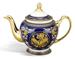 Tea pot 1.3 L + lid - Palace - King Blue (dragon)