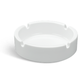 Round ashtray - Jasmine - White