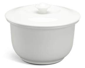 Soup tureen 0.88 L + lid - Daisy LY'S - White Ivory
