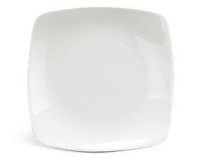 Flat square plate 27 cm - Daisy LY'S - White Ivory