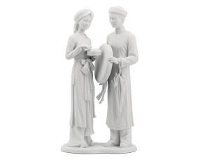 Engagement - Sculpture - White