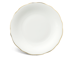 Round plate 20 cm - Peony IFP - Gold line