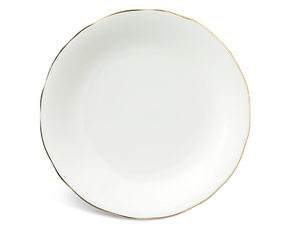 Round plate 25 cm - Peony IFP - Gold line