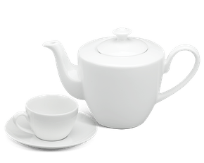 Tea set 0.65 L - Daisy White
