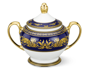 Sugar bowl 10 cm + lid - Palace - King Blue (dragon)
