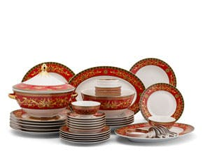 Set of 45 pcs + souptureen (for 6 persons) - Palace - King Red