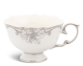 Tea cup 0.18 L - Queen Decorated platinum