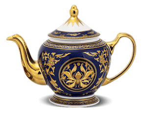 Tea pot 0.8 L + lid - Palace - King Blue (Lotus)