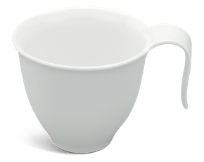 Coffee cup 0.25 L - Harmony LY'S - White Ivory