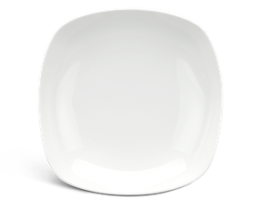 Deep square plate 25 cm - Harmony LY'S - White Ivory